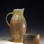 honey pitcher and oval box